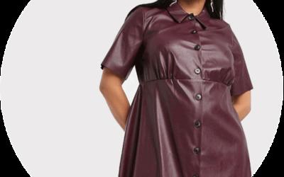 Robes en cuir grandes tailles